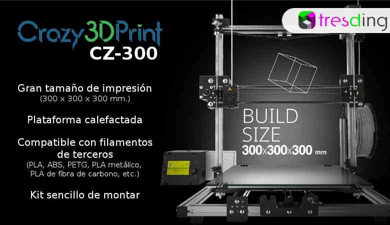 Crazy3DPrint CZ-300 Impresora 3D en Kit